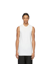 Rick Owens White Basic Sleeveless Tank Top