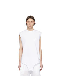 Rick Owens White Champion Edition Sleeveless T Shirt