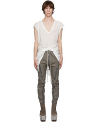 Rick Owens White Double Dylan T Shirt