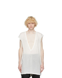 Rick Owens White Dylan Sleeveless T Shirt