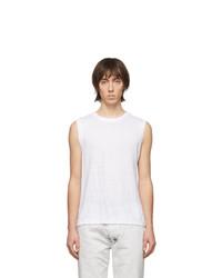 Isabel Marant White Linen Cornell Sleeveless T Shirt