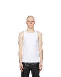 Givenchy White Square Tank Top