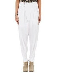 Isabel Marant Odrys High Waist Pants White