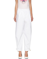 White high waisted tapered trousers medium 3699470