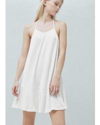 Mango Outlet Textured Strap Dress