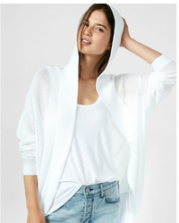Express Textured Stitch Hooded Cocoon Cover Up