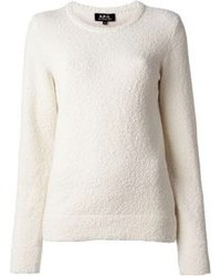A p c yoko textured crew neck sweater medium 79497