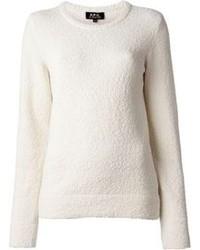 A p c yoko textured crew neck sweater medium 79497