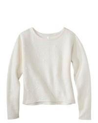 by design, LLC Xhilaration Juniors Textured Sweatshirt Cream L