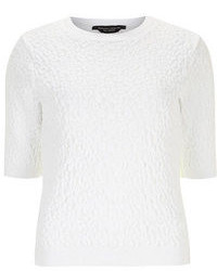 Dorothy Perkins White 3d Textured Knit