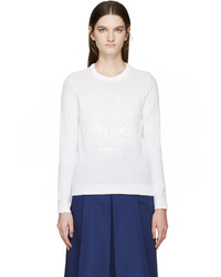 Kenzo White Textured Logo Sweater