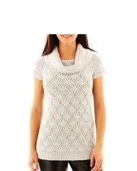 Worthington Textured Cowlneck Tunic Sweater