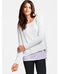 Marled bateau neck sweater medium 197388