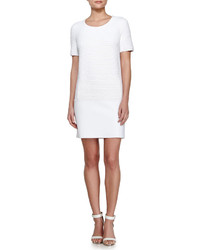 Vonda textured shift dress white medium 195881