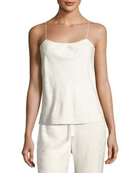 The Row Biggins Textured Silk Camisole Off White