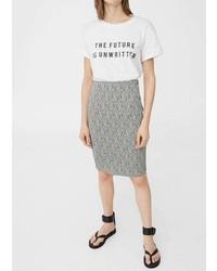 Mango Midi Textured Skirt