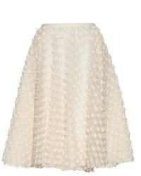 Rochas Textured Fabric A Line Skirt