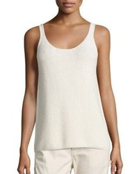 Vince Textured Cotton Tank Top