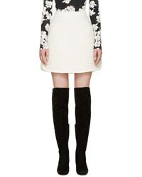 Giambattista Valli Ivory Textured A Line Skirt