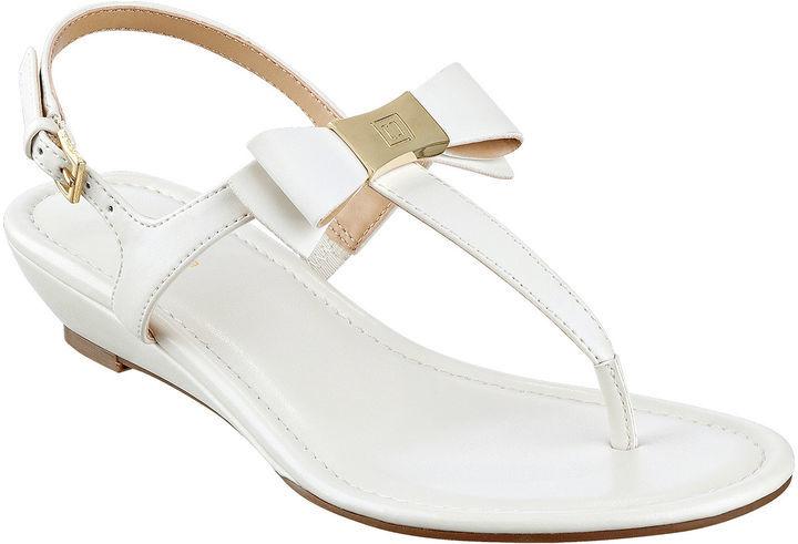 38ed53d51168 Yumma Bow Thong Sandals. White Thong Sandals by Liz Claiborne
