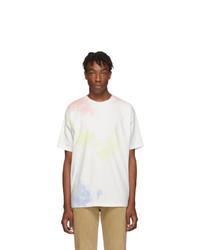 White Tie-Dye Crew-neck T-shirt