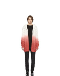Saint Laurent White And Pink Baja Hoodie Cardigan