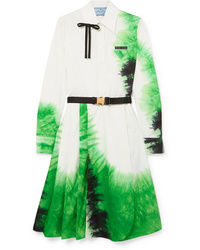 Prada Tie Dye Cotton Poplin Dress