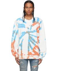 Amiri Orange Blue Core Tie Dye Sweatshirt