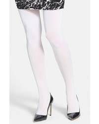 DKNY 412 Control Top Opaque Tights Pure White Small
