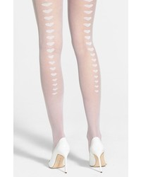 Betsey Johnson Heart Back Seam Sheer Tights