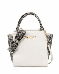 Betsey Johnson Bug A Boo Spotted Tote Bag Cream