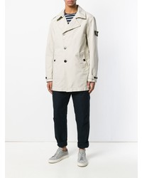 Stone Island Double Breasted Fitted Coat