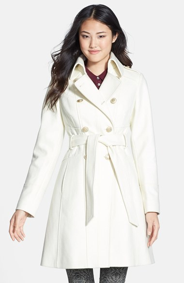 cheap shop for best discount up to 60% Double Breasted Wool Blend Trench Coat