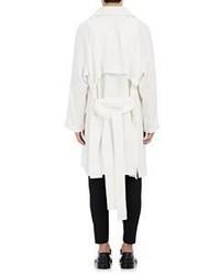 Ann Demeulemeester Slub Trench Coat White