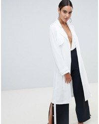 Missguided Trench Coat In White