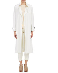 Barneys New York Twill Open Front Trench Coat