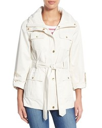 Ellen Tracy Petite Techno Short Trench Coat