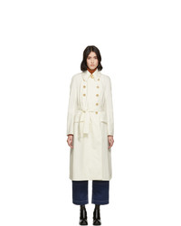 Chloé White Cotton Panama Trench Coat