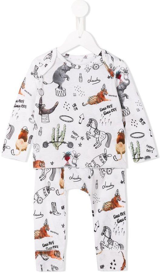 Stella McCartney Kids Circus Print T Shirt And Trouser Set