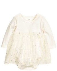 H&M Tulle Dress With Bodysuit