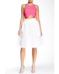 Tov Faux Leather Waist Tulle Skirt