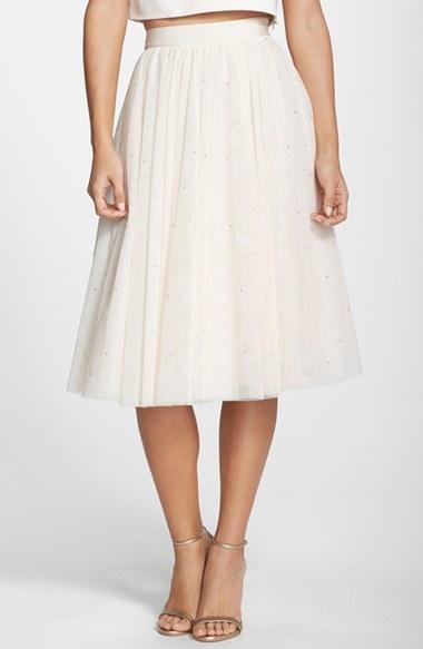 f184fe5c37 Ted Baker London Odella Embellished Tulle Skirt, $475 | Nordstrom |  Lookastic.com