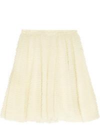 White Tulle Mini Skirt