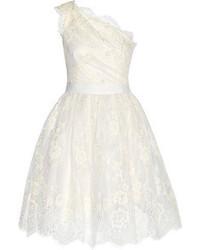 One shoulder embellished tulle dress medium 55028