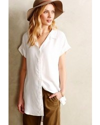 Anthropologie Cloth Stone Luna Buttondown Tunic