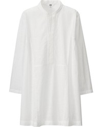 Uniqlo Embroidery Stand Collar 34 Sleeve Tunic