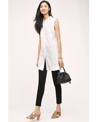Maeve Mve Sleeveless Buttondown Tunic