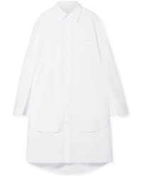 Maison Margiela Oversized Cutout Cotton Poplin Tunic