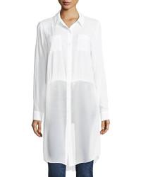 BCBGeneration Poplin Shirting Tunic White