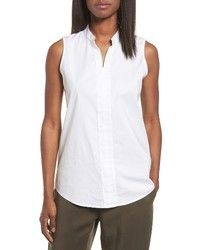 Eileen Fisher Stretch Organic Cotton Classic Collar Tunic